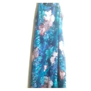 Tropical flower high/ low maxi dress